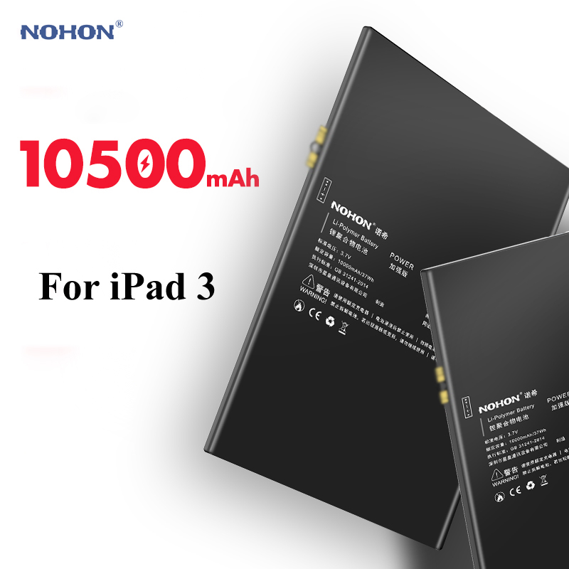Nohon Tablet Battery For IPad 3 Battery Replacement Batarya For IPad 4 IPad3 IPad4 A1389 A1403 A1416 A1430 A1458 A1459 Bateria