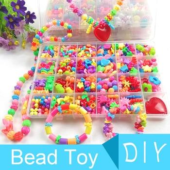 500-550pcs Creative DIY Handmade Beaded Toys For Kids Children Hama Beads Mini Craft Kits Bracelet Necklace Jewelry Girl Gift 1
