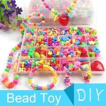 500-550pcs Creative DIY Handmade Beaded Toys For Kids Children Hama Beads Mini Craft Kits Bracelet Necklace Jewelry Girl Gift