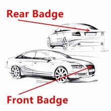 4 кольца высокого качества ABS 3D Автомобильная капота передняя крышка гриль задний багажник эмблема значок Логотип Наклейка Наклейки стильн...