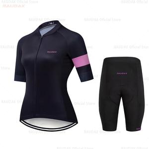 Image 2 - HuanGe 2020  Ciclismo  High Quality Women Summer Short Sleeve Cycling Clothing Cyc Clothes  cycling clothing  bike uniform