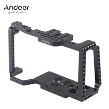 "Andoer Camera Cage Video Film Movie Making Cage+Quick Release Plate 1/4""+3/8"" Threaded Cold Shoe for Camera 4K/6K BMPCC 4K 6K"