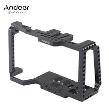 """Andoer هيكل قفصي الشكل للكاميرا فيلم فيديو فيلم صنع قفص + لوحة الإفراج السريع 1/4 """"+ 3/8"""" الخيوط الحذاء البارد للكاميرا 4 K/6 K BMPCC 4K 6K"""