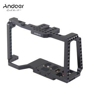 """Image 1 - Andoer هيكل قفصي الشكل للكاميرا فيلم فيديو فيلم صنع قفص + لوحة الإفراج السريع 1/4 """"+ 3/8"""" الخيوط الحذاء البارد للكاميرا 4 K/6 K BMPCC 4K 6K"""