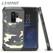 цена на For Samsung Galaxy S10 Case Camouflage Protective Cases TPU & PC Bumper Back Cover For Samsung S9 Plus S8 S7 edge S6 S5 Neo