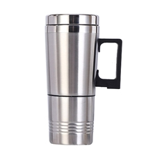 Portable Car Heater Travel Mug 12 / 24V Stainless Steel Electric Kettle Thermo Water Cup Home Outing Supplies Drinkware