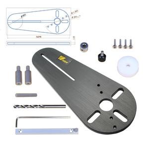 Image 2 - 1 zestaw przyrząd do cięcia koła dla małych routerów do drewna/elektryczne trymery ręczne frezowanie drewna koło frezowanie rowek