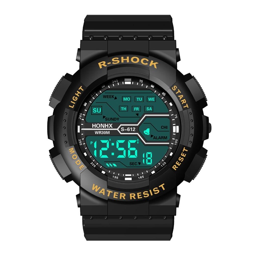 HONHX Luxury Digital Watch Military Army Stylish Mens Electronic Watch Clock Sport Watch Digital LED Waterproof Wrist Watch