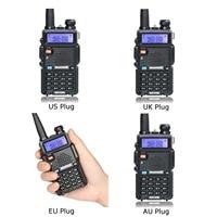 "5r uv עבור Baofeng UV-5R שני הדרך רדיו Dual Band 136-174 / 400-520Mhz 5W מכשיר הקשר Plug Type: ארה""ב Plug / בבריטניה תקע / AU Plug / האיחוד האירופי Plug (3)"