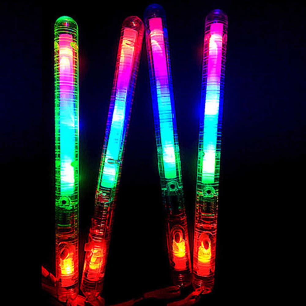 1X Flashing Multi Color LED Maracas Light Up Neon Sensory Shaking New Toy K7X0