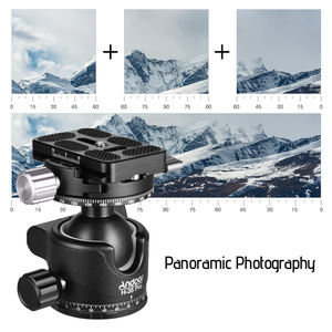 Image 5 - Andoer H 35 Pro Ball Head Tripod Mount Adapter Low Gravity Center with Dual Panoramic Scale U Groove Tripod Head for Camera