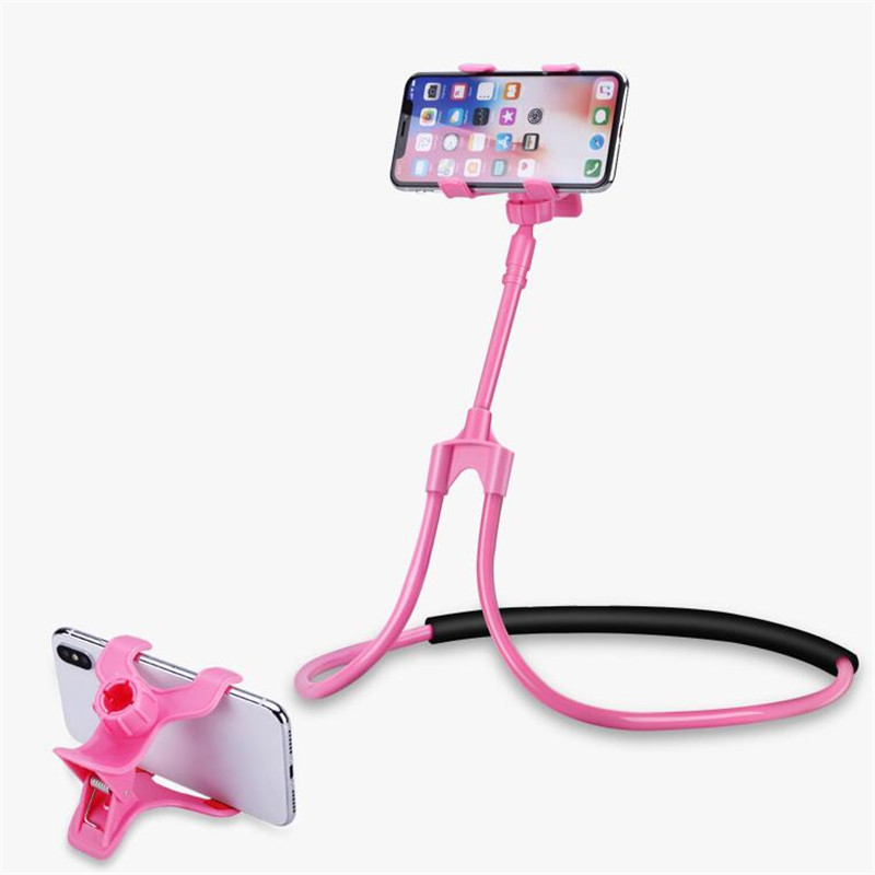 Universal Mobile Phone Mount Stand For IPhone 360 Degree Rotating Flexible Lazy Bracket Neck Phone Holder For Huawei Redmi