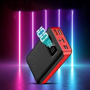 Image 2 - Портативное зарядное устройство 10000 мАч, внешний аккумулятор 10000 мАч с двойным USB портом, Внешнее зарядное устройство для Xiaomi Mi 9 8 iPhone