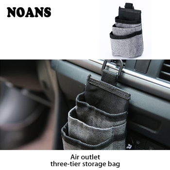 NOANS Car Air Outlet Storage Bag Mobile Phone Holder For Opel corsa d zafira b Suzuki grand vitara Peugeot 407 208 508 3008 2017 image