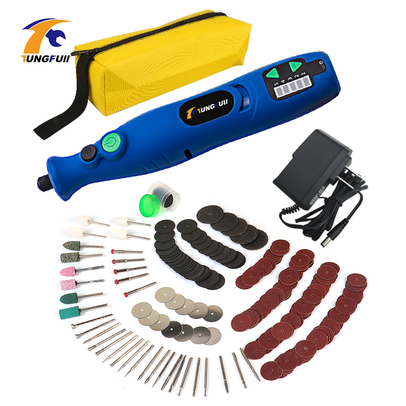 Mini Lithium Cordless Drill Carving Tools Electric Drill Grinding Accessories Set Diamond Pen Engraving For Dremel Tools