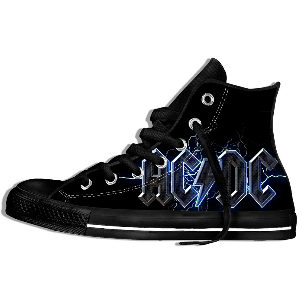 2019 Hot Fashion Printing HIgh Top Sneakers AC DC Unisex Lightweight Casual Shoes