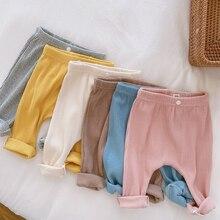 Autumn Winter Toddler Baby Pants Casual Cotton Elastic Trouser Waist Children Boys Girls Leggings Clothing Kids Infant Trousers