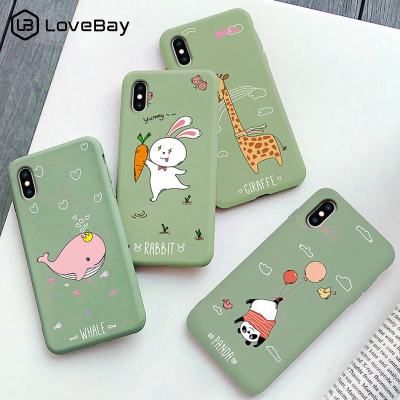 Lovebay Cute Animals <font><b>Dinosaur</b></font> Giraffe <font><b>Case</b></font> For <font><b>iPhone</b></font> <font><b>7</b></font> 8 6 6s Plus 11 Pro 2019 X XR XS Max Panda Soft TPU Back Cover Phone <font><b>Case</b></font> image