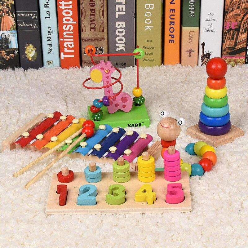 Intelligence Early Education Children 1-2-3-Year-Old Bead-stringing Toy Toy Baby Yi Infant Beaded Bracelet Bead-stringing Toy 10