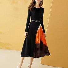 Женское асимметричное платье в повседневном стиле смешанные