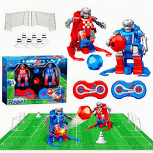 Mini Remote Control Robot Soccer Football Smart Robot 2 Pack Interactive Toys Boys Control Charging Action Children Birthday toy(China)