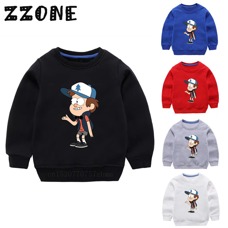 Children's Hoodies Kids Gravity Falls Cartoon Mabel Dipper Funny Sweatshirts Baby Pullover Tops Girl Boy Autumn Clothes,KYT2415