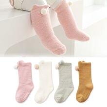 От 0 до 3 лет Детские носки для девочек милые хлопковые зимние