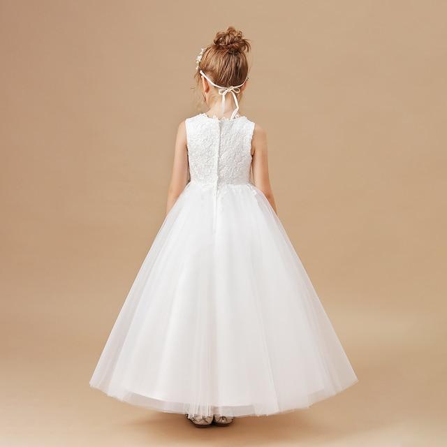 Ball Gown White Flower Girls Dress 4