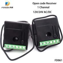 Récepteur universel compatible à distance à code roulant 1 canal mini récepteur 12/24v fonctionne avec 31 pièces à distance