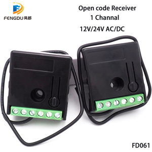Image 1 - universal rolling code remote compatible receiver 1 Channel mini Receiver 12/24v work with 31pcs remote