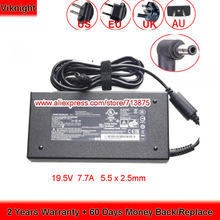 Genuine CHICONY 19.5V 7.7A 150W ADP-150VB B A14-150P1A AC Adapter for CLEVO W650KK1 W651KK1 P655RA P650RA for MSI GS60 GS70 GE62 new uk laptop keyboard for for msi steelseries gt72 gs60 gs70 ws60 ge62 ge72 keyboard backlit