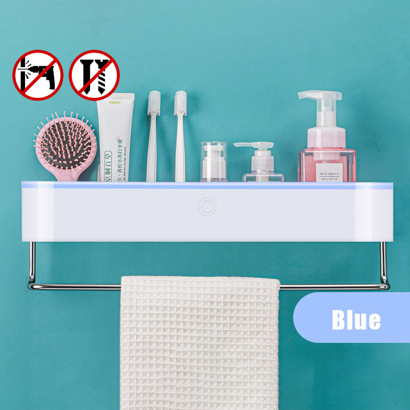 B-Blue towel bar