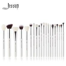 Jessup Perla Bianco/Argento Pennelli Trucco Professionale Set di strumenti di Bellezza Make up Pennello Cosmetico kit Prodotti Di Base In Polvere Vernice Matita