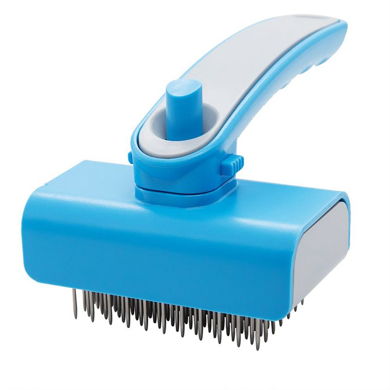 Self Cleaning Slicker Brush For Dogs And Cats-Easy To Clean Pet Grooming Removes,Tangles,And Loose Hair With Minimal Effor