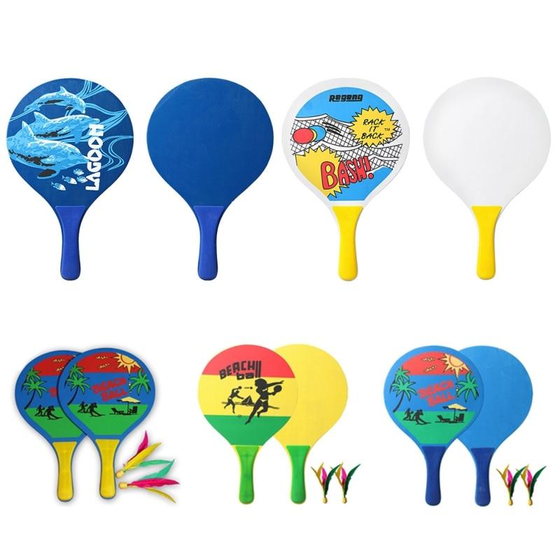 New Board Badminton Racket Beach Racket Popular Wood Creative Cricket Shoot Tennis Fun Paddles Home Entertainment Fitness Set