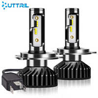 Uttril Canbus H4 LED H7 LED H1 H3 H8 H9 H11 9005 HB3 9006 HB4 880 881 H27 LED Car Headlight 100W 12000LM ZES 6000K No Error 12V