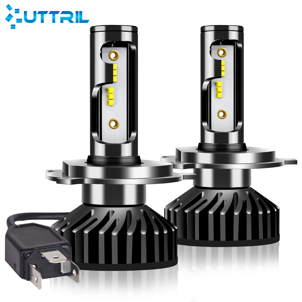 Uttril Car Headlight H4 H7 LED canbus H1 H3 H8 H9 H11 9005 HB3 9006 HB4 880 881 H27 ZES LED Bulb 100W 12000LM Auto Fog Light 12V image