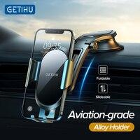 GETIHU yerçekimi enayi araç telefonu tutucu dağı standı GPS Telefon cep iPhone için destek 12 11 Samsung Xiaomi Redmi huawei