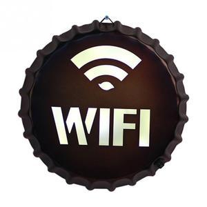 Lumière LED montage mural homme & femmes toilette signe salle de repos WC signe métal porte indicateur WIFI VIP enseigne plaque de signalisation carte(China)