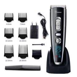 Profissional aparador de cabelo digital máquina corte de cabelo sem fio ajustável lâmina cerâmica recarregável elétrica máquina cortar cabelo 40d
