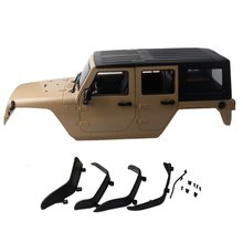 Unassembled 12.3inch 313mm Wheelbase Body Car Shell for 1/10 RC Crawler jeep Cherokee Wrangle Axial SCX10 & SCX10 II 90046 90047 injora 150mm super bright metal 11led lights bar for 1 10 rc crawler axial scx10 jeep wrangler body