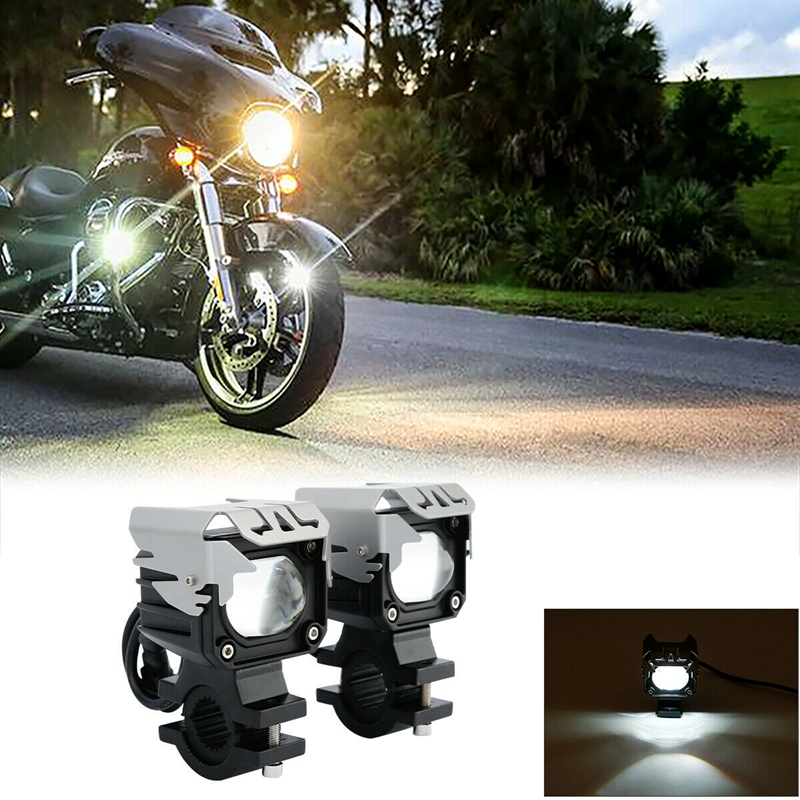 Universal 1'' Engine Guard Spotlight Indicator LED Light Lamp For Yamaha Honda Suzuki Harley Touring Dyna Sportster Softail FLHR|  - title=