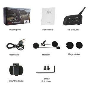 Image 5 - VNETPHONE 1200M 1 adet kablosuz Bluetooth motosiklet kask interkom 6 biniciler interkom kulaklık desteği Mp3 Intercomunicador Moto