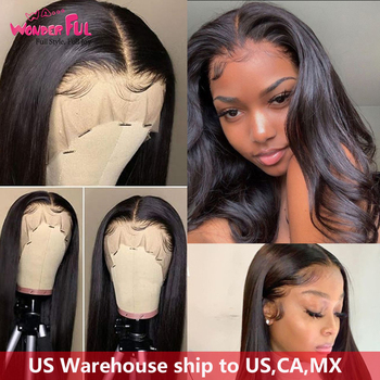 Lace Front Human Hair Wigs pre plucked 13X4 360 Lace Frontal Wig Remy Hair Brazilian straight Lace Frontal Wigs 10-28 30 Inch
