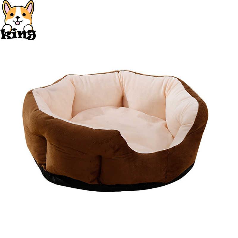 สุนัขฤดูหนาวแฟชั่นผ้าฝ้ายสุนัขสัตว์เลี้ยงรอบในร่ม WARM Cat เตียงสุนัขสำหรับสุนัขขนาดกลางและ 2019 ใหม่สัตว์เลี้ยงนุ่ม House