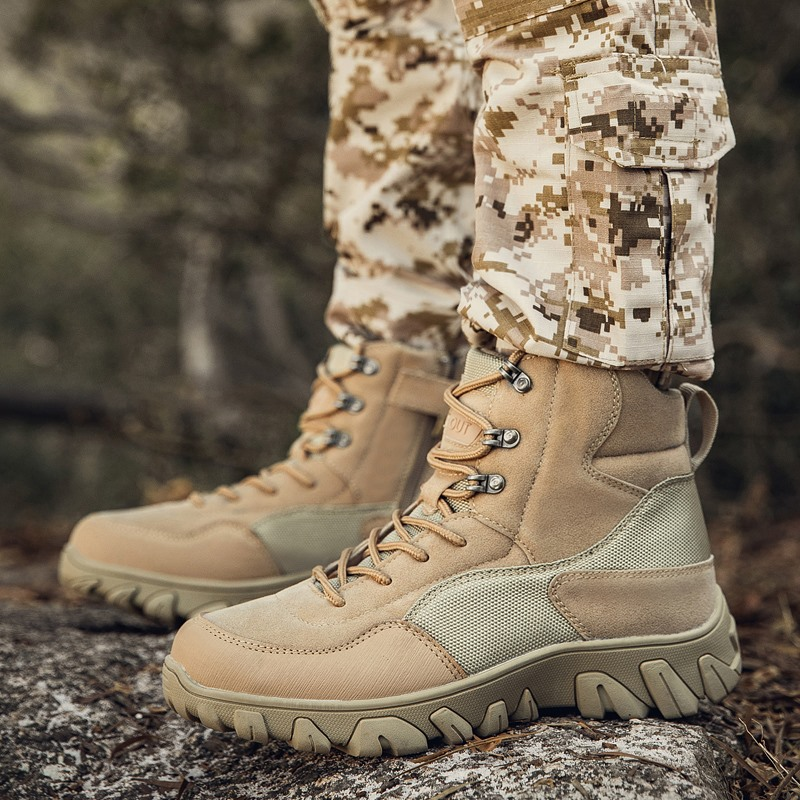 New Military Tactical Boots Men Waterproof Special Force Desert Combat Ankle Boots Army Shoes Waterproof Anti skid Hiking Shoes|Hiking Shoes| |  - title=