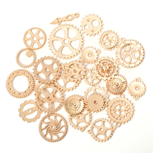 50g 100g Mixed KC Gold Antique Steampunk Cogs & Gears Charms DIY Pendant Charms Jewelry Making Vintage Bracelets Craft Metal