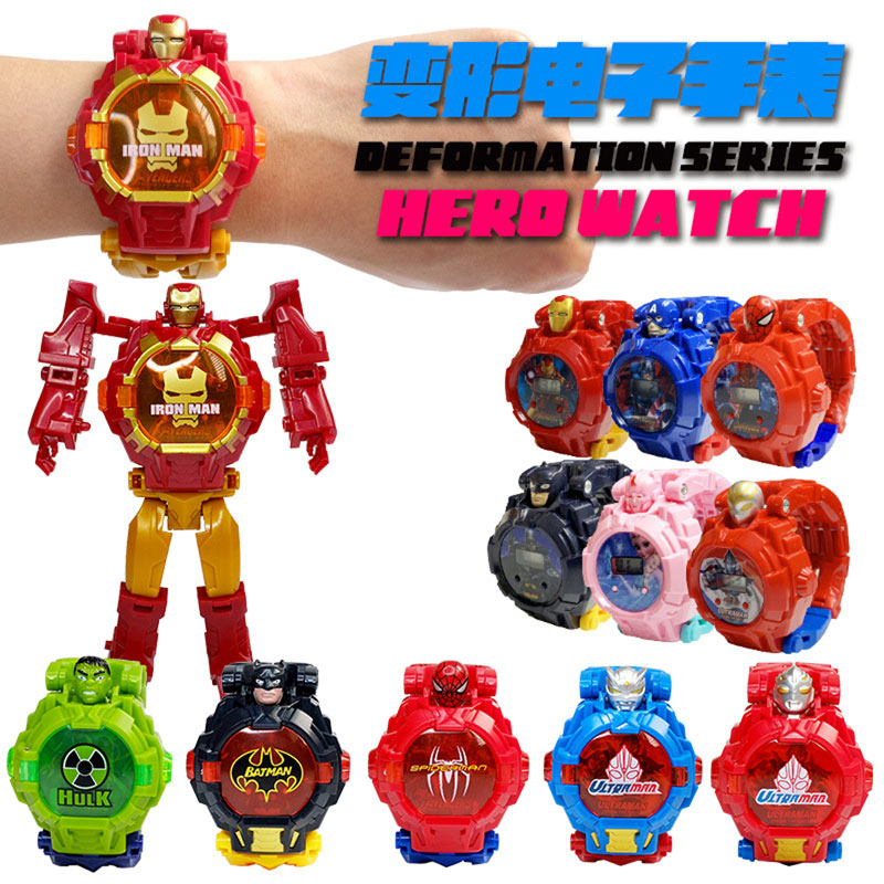 Transformation Robot  Children Watch  Deformation  Electronic  Kids  Watches  Cartoon Girl Boy  The Children Toy