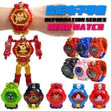 Transformation Robot Children Watch Deformation Electronic Kids Watches