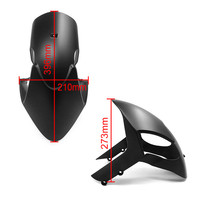 Painted Matte Black Motorcycle Front tire Fender Mudguard Splash Guard Protector For Ducati Monster 696 796 1100 EVO ABS 1100S
